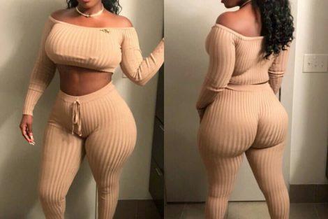 Photo de femme black devant et derrière